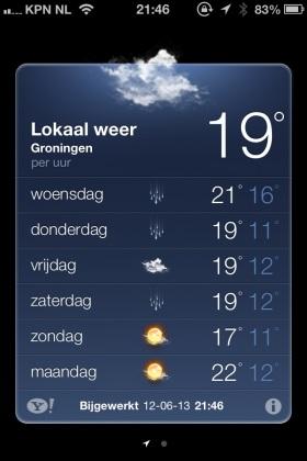 weerapp iOS 6