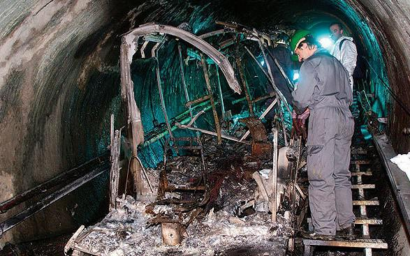 Trein Kaprun 5 na de brand